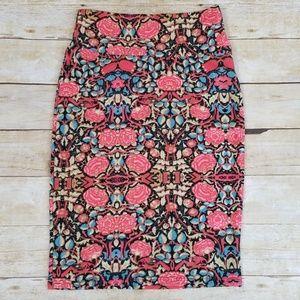 Lularoe Cassie Floral Pattern Pencil Skirt, NWT